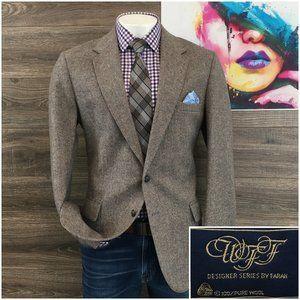 Vintage Farah Tweed Mens Sport Coat Blazer Wool